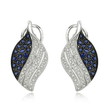 Trendy Earrings on Trendy Styles Of Blue Sapphire Earrings