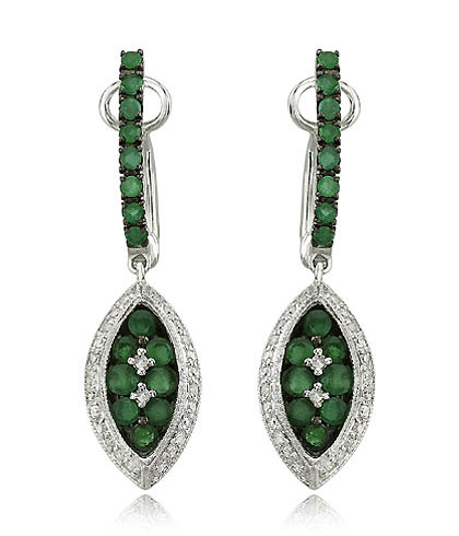 Dangle Emerald Earrings