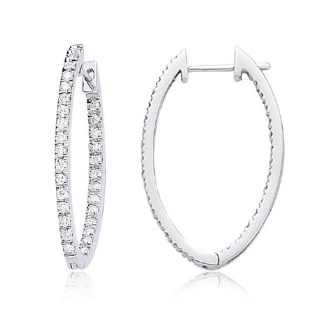 Diamond Extra Large Hoop Earrings