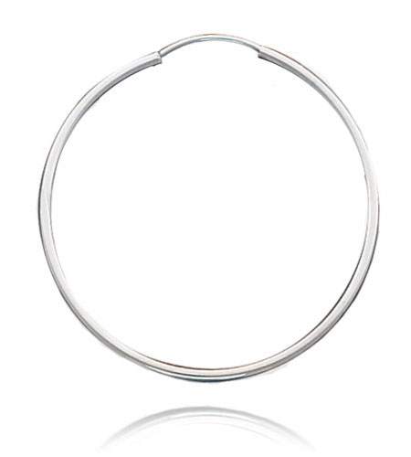 Silver Extra Large Hoop Earrings