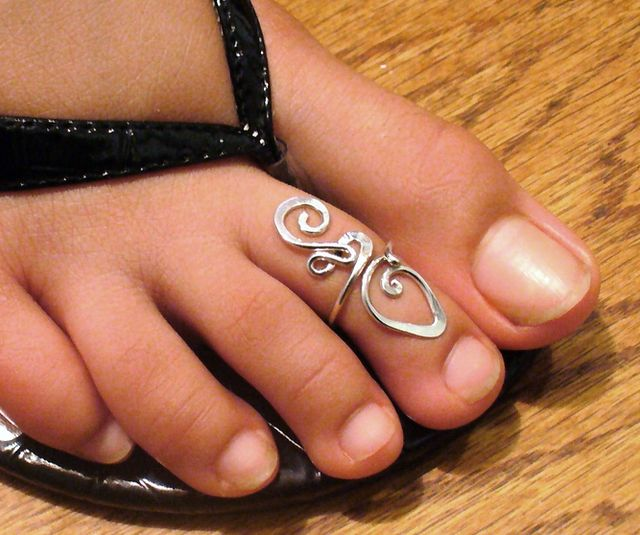 Silver  Toe Ring