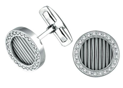 White Gold Diamond Cufflinks