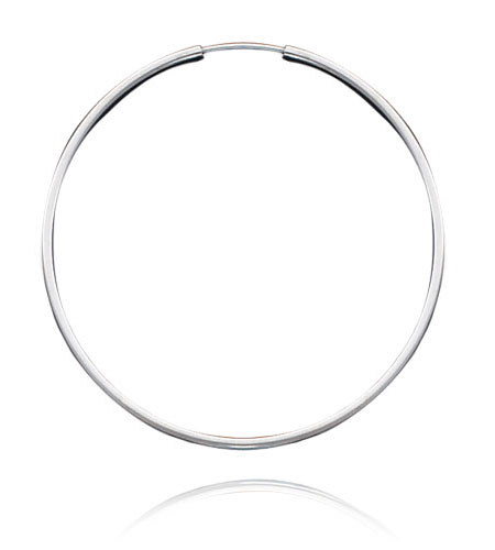 White Gold Extra Large Hoop Earrings